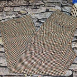 Vince Camuto Womens Plaid Dress Work Pants Size 12